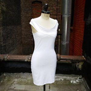 bebe Women's Sexy Bodycon knit Off Shoulder Dress